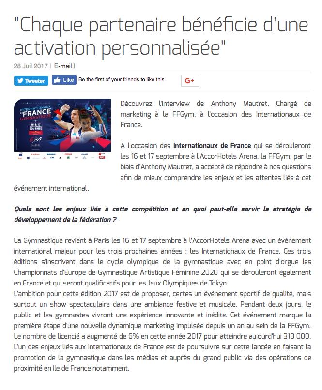 """""""Chaque partenaire bénéficie d'une activation personnalisée"""""""