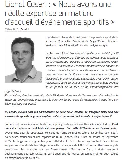 Lionel Cesari : « Nous avons une réelle expertise en matière d'accueil d'événements sportifs »