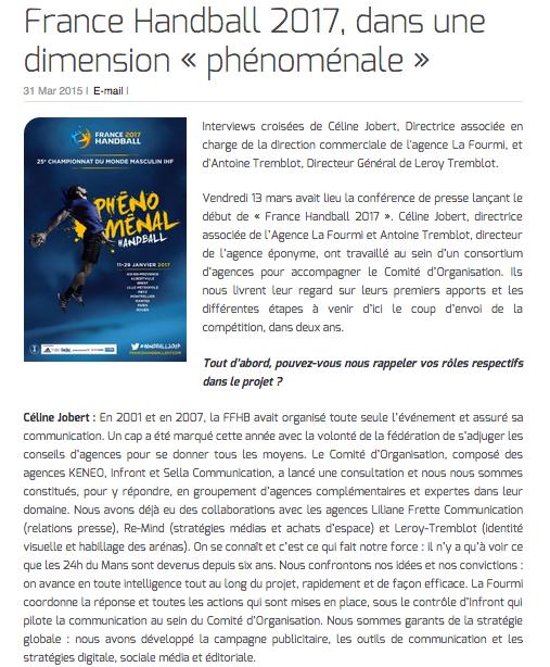 France Handball 2017, dans une dimension « phénoménale »