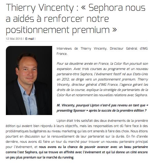 Thierry Vincenty : « Sephora nous a aidés à renforcer notre positionnement premium »