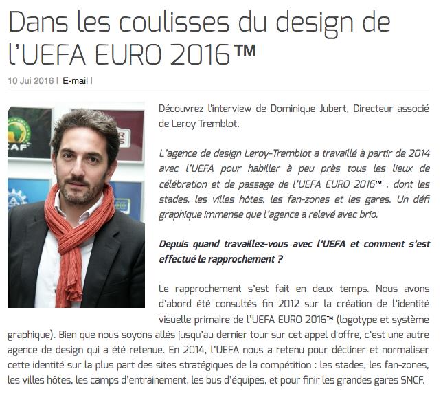 Dans les coulisses du design de l'UEFA EURO 2016™