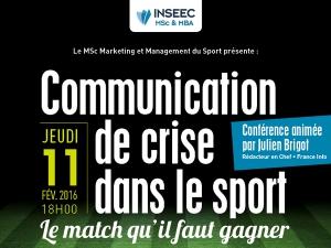 Conférence INSEEC : la Gestion de crise dans le sport