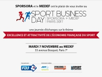 Sport Business Day - SPORSORA + MEDEF - Paris 2017