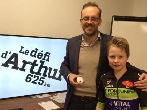 Le défi d'Arthur : 625 kms à vélo suivis par Tech4Race