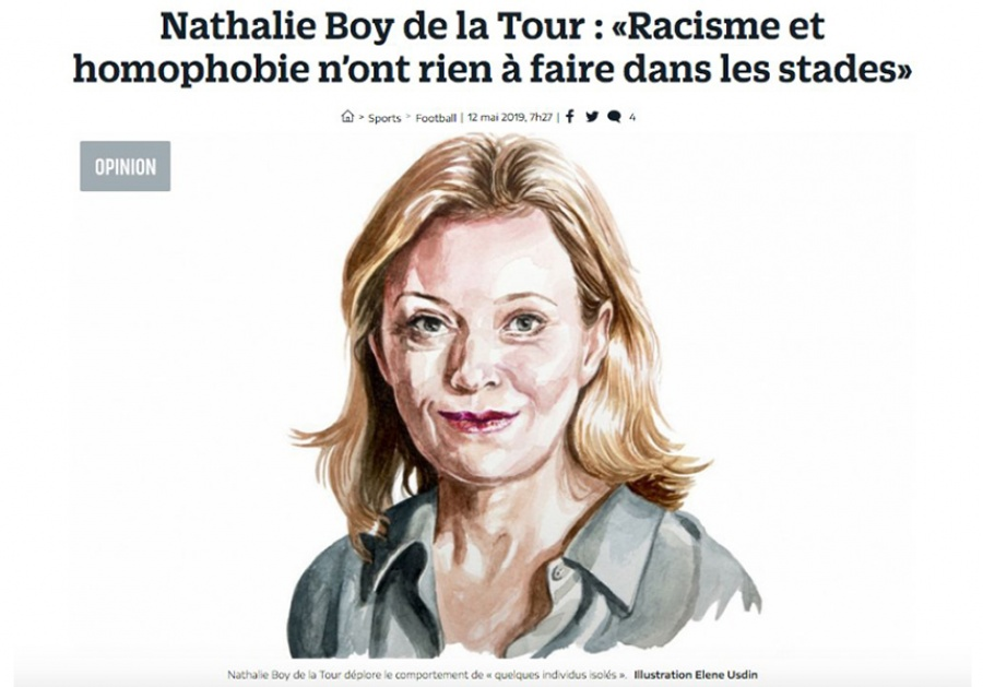 [News Tank Sport] Tribune de Nathalie Boy de la Tour