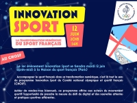CNOSF : innovation sport le 12 juin