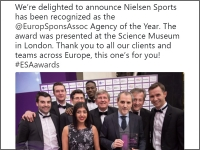 "Nielsen honoré ""Agency of the year"" par l'ESA"